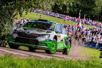 Po třech dnech Barum Czech Rally Zlín vyhrála popáté v řadě posádka Škody Kopecký/Dresler