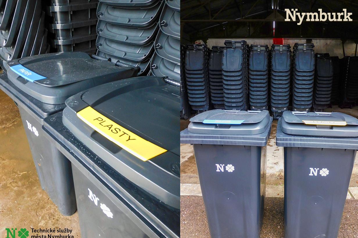 Nymburk rozšiřuje systém sběru tříděného odpadu od domů